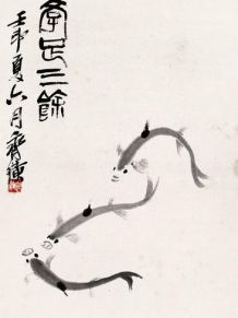 齐白石鱼虾蟹画作欣赏