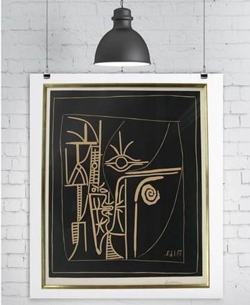 毕加索绘画 脸 毕加索真迹 脸 将入驻淘宝拍卖 1元起拍 高清图片