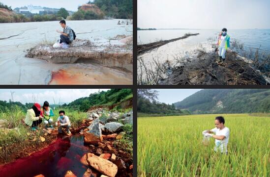 p49 一家环保公益组织历时500 多天,深入湘江流域10 地市,调查重金属污染。图片来源 I 曙光环保