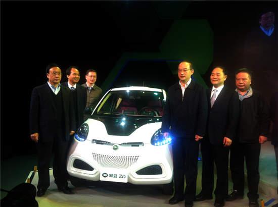 D1城市微型纯电动汽车兰州下线 百公里仅需8度电高清图片
