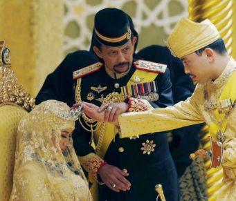 文莱王子马利克举行婚礼