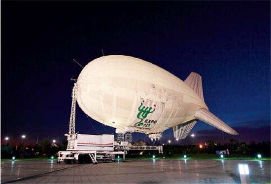 p43-3 2010年上海世博会期间,浮空器用于世博园区监视和预警。