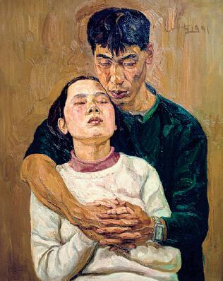 p81-2 刘小东油画作品《缠绵》以270 万元成交。徐