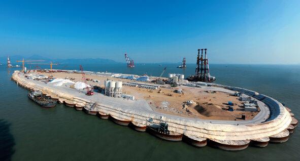 P39-正在建设中的港珠澳大桥岛隧工程