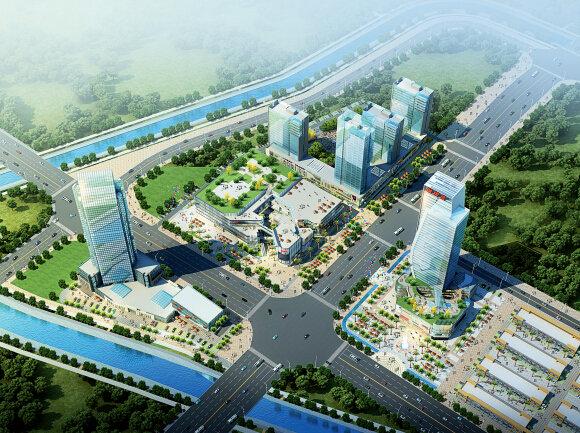 p64+瑞银昌国际商贸中心鸟瞰图
