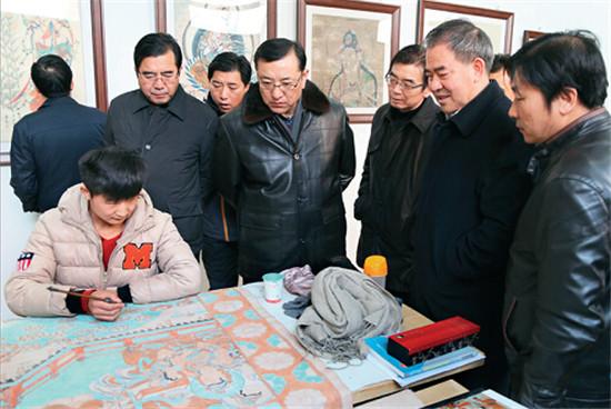 p17-2+甘肅省委宣傳部長連輯(右四)調研文化產業