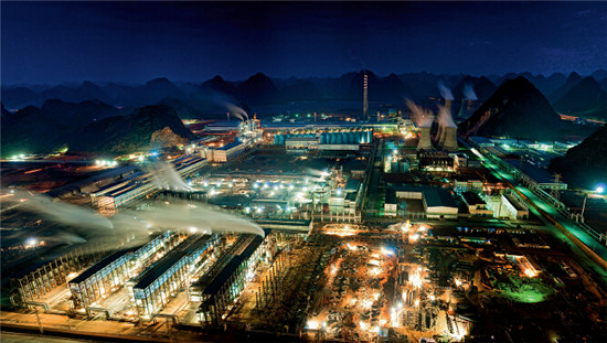 p15+铝工业园区夜景