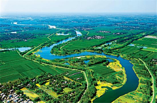 p39-阜陽泉河濕地自然保護區鳥瞰
