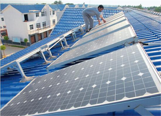 p110-1淮南凤台县芮集美好乡村用上清洁能源太阳能