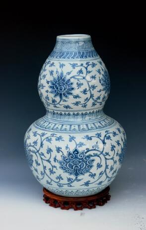 p79-5 高仿明代青花葫芦瓶