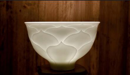 p78-1 玉质瓷花瓣碗