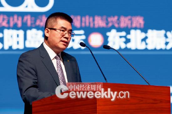 p14-2 哈尔滨市委常委、常务副市长康翰卿在开幕式上致辞。_副本