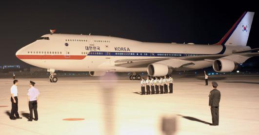 杭州萧山机场:各国首脑专机大汇展