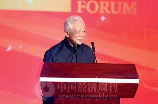 p28(1) 十一届全国人大常委会副委员长周铁农宣布论坛开幕