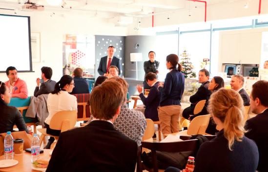 p43 2016 年11 月24 日,荷兰王子Constantijn 率创新代表团访问XNode 空间。