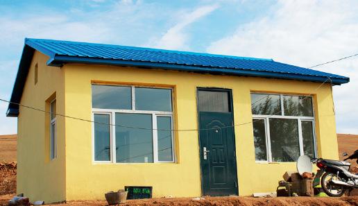 p47-1 兴安盟扎赉特旗乌兰格日勒屯金海青拆掉旧房盖起了新房
