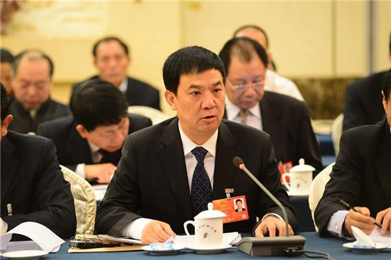 张龙安在分组讨论中发言