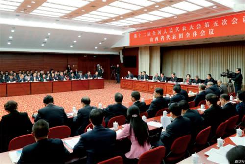 p33 3 月7 日,十二届全国人大五次会议山西代表团全体会议向媒体开放。