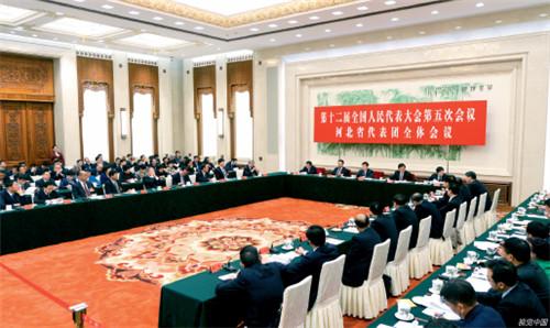 p35 3 月7 日,北京,第十二届全国人民代表大会第五次会议河北代表团全体会议开幕。