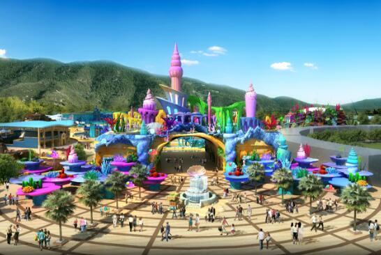 13座剧院,一个太湖古镇,野生动物园,马戏城和盆景园,7个主题乐园,3万