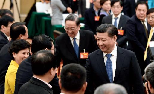 p19 2017 年3 月4 日下午,习近平总书记看望了参加全国政协十二届五次会议的民进、农工党、九三学社委员,并参加联组会,听取意见和建议。新华视点