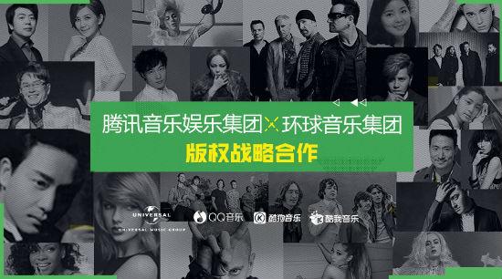 环球音乐与腾讯音乐娱乐集团宣布达成版权战略合作。