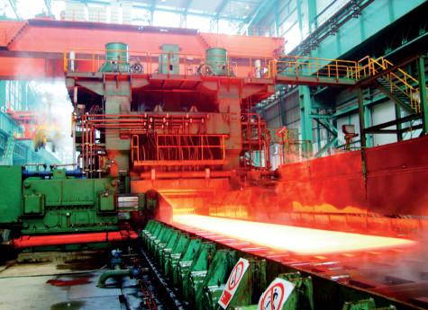 p62 华菱湘钢5米宽厚板线正在生产
