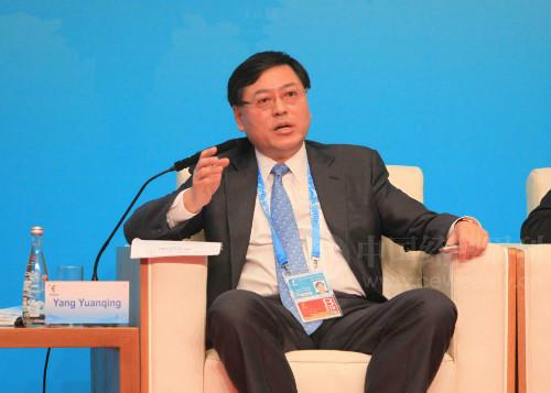 联想集团董事长兼CEO杨元庆 (徐豪 摄)