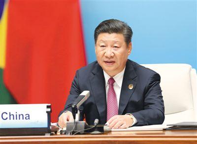 9月4日,金砖国家领导人第九次会晤在厦门国际会议中心举行。国家主席习近平主持会晤并发表题为《深化金砖伙伴关系 开辟更加光明未来》的重要讲话。新华社记者 马占成摄