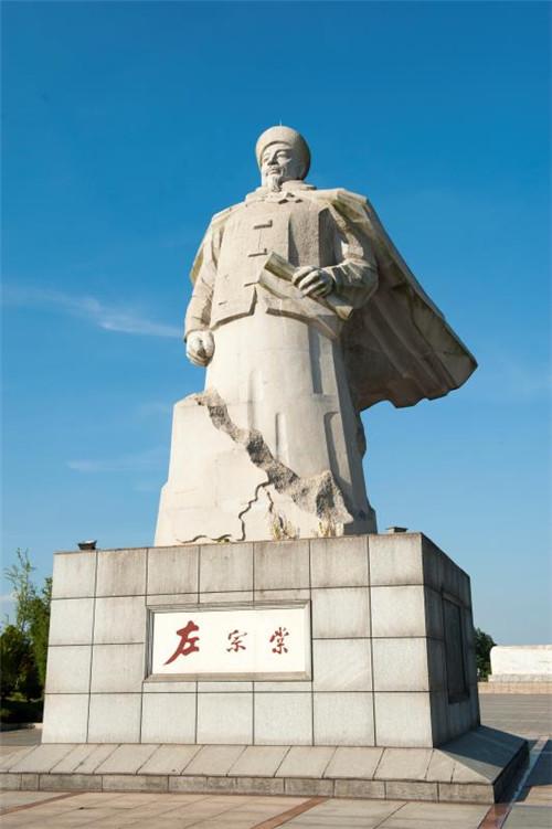 湖南湘阴,左宗棠雕像