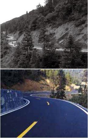 p35-改造前后的湖南湘西十八洞村进村公路