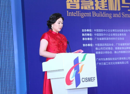 广东省建筑装饰材料行业协会会长兰芳发言