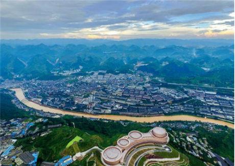 19 航拍茅台 镇视觉中国