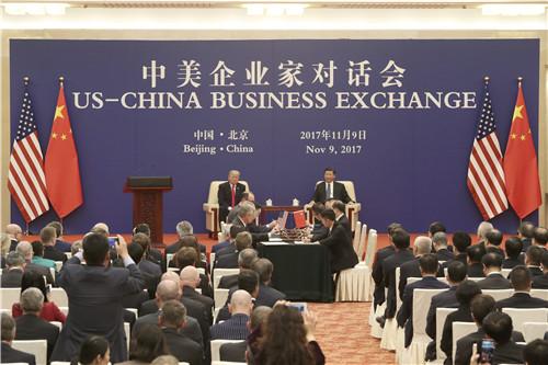 30 11月9日,中美企业家对话会在北京人民大会堂举行。这两天,两国经贸合作的金额达到2535亿美元,创造了中美经贸合作的纪录,也刷新了世界经贸合作史上的新纪录。