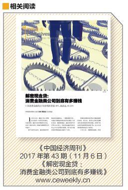 p37 《中国经济周刊》2017 年第43 期(11 月6 日)《解密现金贷:消费金融类公司到底有多赚钱》