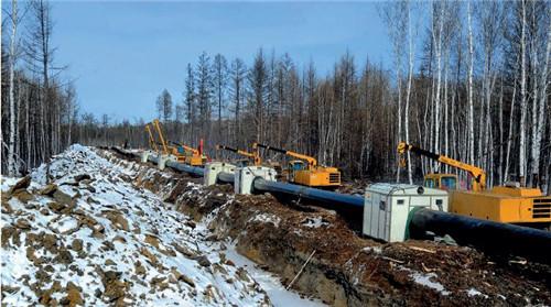 20 中俄原油管道,大兴安岭施工点。视觉中国