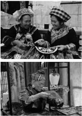 p83-在大山里,口口相传、代代相传的民族传统刺绣,因为没有文字记录,消亡得非常快。这些非物质文化遗产难道只能摆在博物馆、写在书本上,变成传说?