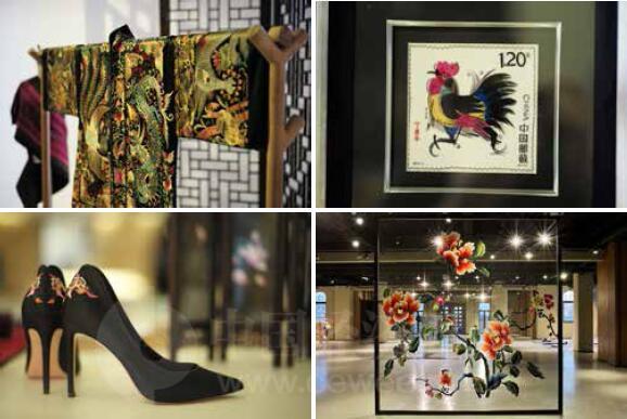 p83-依文城堡中展示的绣娘作品《中国经济周刊》首席摄影记者 肖翊 摄