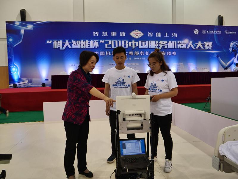 上海健康医学院孙丽萍教授现场指导调试