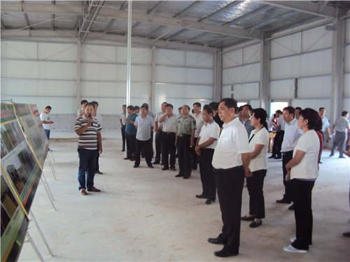 1  有关领导在大章镇调研产业发展工作