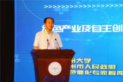 甘肃省副省长张世珍致辞。摄影 李开南