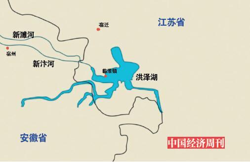 p42-新濉河、新汴河、洪泽湖流域示意图插图:《中国经济周刊》见习美编 刘屹钫