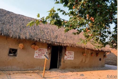 """p39-2 当年小岗村按""""红手印""""的茅草屋。"""