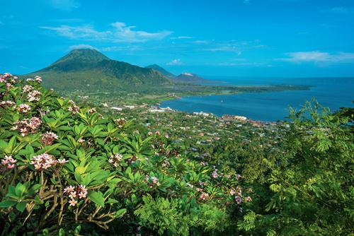 55-1 巴布亚新几内亚美丽的热带岛屿风光。