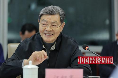 中国扶贫基金会副会长 人民日报社原副总编 江绍高 (《中国经济周刊》首席摄影记者 肖翊 摄)