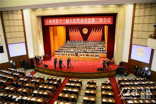 1月26日,吉林省第十三届人民代表大会第二次会议在长春开幕。李洋 摄