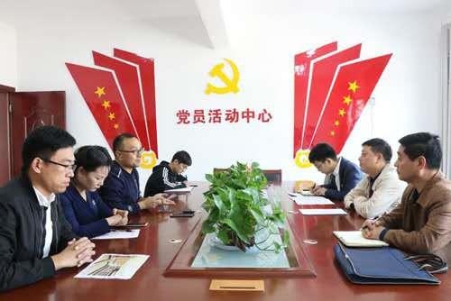 """2  洛龙区委组织部相关领导到集体经济""""空白村""""调研工作"""