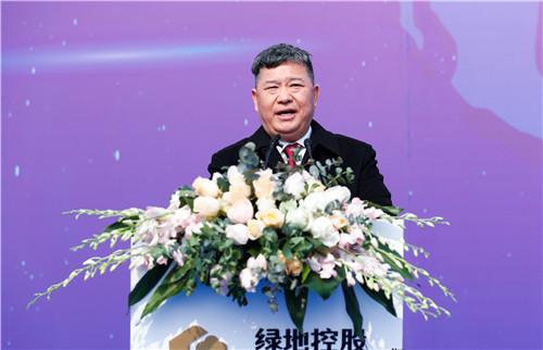 1绿地集团董事长、总裁张玉良在开工仪式上讲话