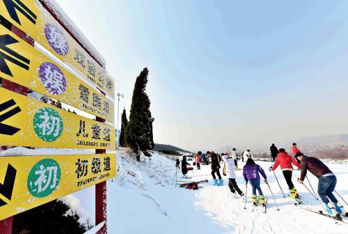 p73-2要想达到百分之二十甚至以上的滑雪运动渗透率,以及滑雪人口人均滑雪次数的增加,扩大冰雪运动人口的基数十分重要。(视觉中国)