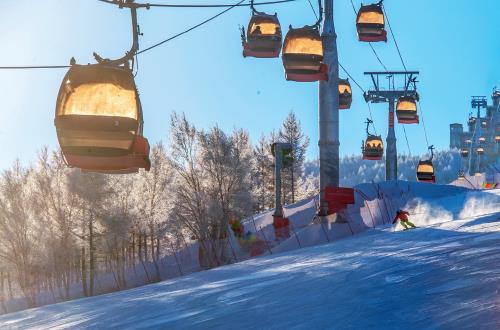 p73-要想达到百分之二十甚至以上的滑雪运动渗透率,以及滑雪人口人均滑雪次数的增加,扩大冰雪运动人口的基数十分重要。(视觉中国)